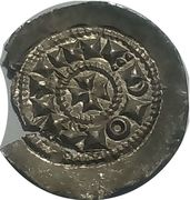 1 Denaro scodellato - Emissions on behalf of Emperor Henry – reverse