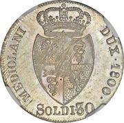 30 Soldi - Franz II – reverse