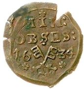 1 Mariengroschen (Siege coinage) – obverse