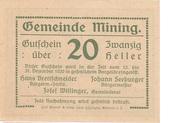 20 Heller (Mining) -  obverse