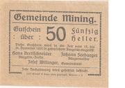 50 Heller (Mining) -  obverse