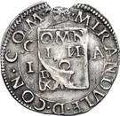 ½ Testone - Gianfrancesco II – reverse
