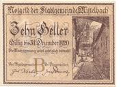 10 Heller (Mistelbach) -  obverse