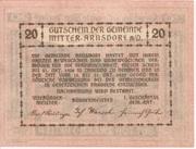 20 Heller (Mitter-Arnsdorf) -  reverse
