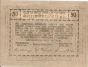 50 Heller (Mitter-Arnsdorf) -  reverse