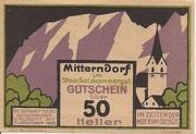50 Heller (Mitterndorf) -  obverse