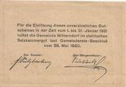 50 Heller (Mitterndorf) -  reverse