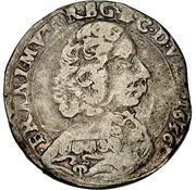 ½ Lira - Francesco I – obverse