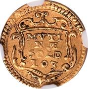 Scudino d'Oro of 103 Soldi - Francesco D'Este – obverse