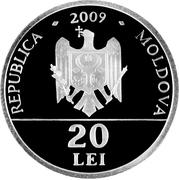 "20 Lei (""Assumption of the Virgin"" Church from Căuşeni) – obverse"