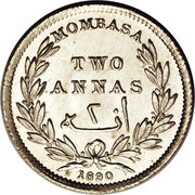 2 Annas (IBEA Coinage) – reverse