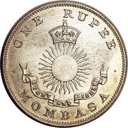 1 Rupee (IBEA Coinage) – obverse