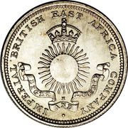¼ Rupee (IBEA Coinage) – obverse