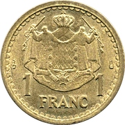 1 Franc - Louis II – reverse