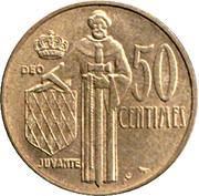 50 Centimes - Rainier III – reverse