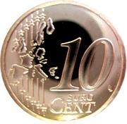 10 Euro Cent - Albert II (2nd type, 1st map) – reverse