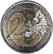 2 Euro - Albert II (Grace Kelly) – reverse