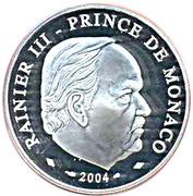 5 Euro - Rainier III (Sainte Devote) – obverse