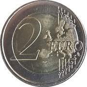 2 Euro - Albert II (Admission to UN) -  reverse