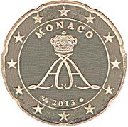 20 Euro Cent - Albert II (2nd type, 2nd map) – obverse