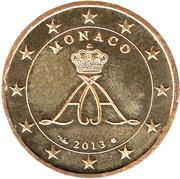 50 Euro Cent - Albert II (2nd type, 2nd map) – obverse