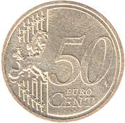 50 Euro Cent - Albert II (2nd type, 2nd map) – reverse