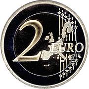 2 Euro - Albert II (1st map) – reverse