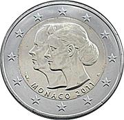 2 Euro - Albert II (Royal Wedding) – obverse