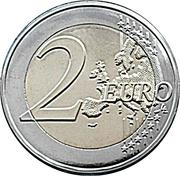 2 Euro - Albert II (Royal Wedding) – reverse
