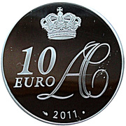 10 Euro - Albert II (Marriage) – reverse