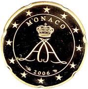 20 Euro Cent - Albert II (2nd type, 1st map) – obverse