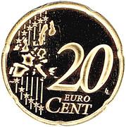 20 Euro Cent - Albert II (2nd type, 1st map) – reverse