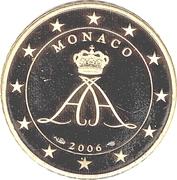 50 Euro Cent - Albert II (2nd type, 1st map) – obverse