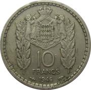 10 Francs - Louis II -  reverse