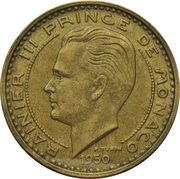 50 Francs - Rainier III – obverse