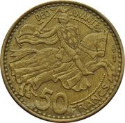 50 Francs - Rainier III – reverse