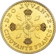 50 Francs - Rainier III (Anniversary of Reign; Essai) – reverse