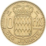 10 Francs - Rainier III – reverse