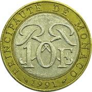 10 Francs - Rainier III -  reverse