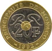 20 Francs - Rainier III -  reverse