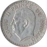 5 Francs - Louis II – obverse