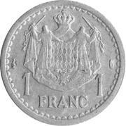1 Franc - Louis II -  reverse