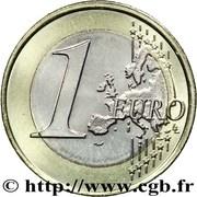 1 Euro - Albert II (2nd map) -  reverse