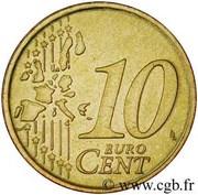 10 Euro Cent - Rainier III (1st type, 1st map) – reverse