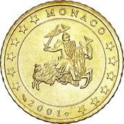 50 Euro Cent - Rainier III (1st type, 1st map) – obverse