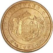 1 Euro Cent - Rainier III – obverse