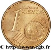 1 Euro Cent - Rainier III – reverse