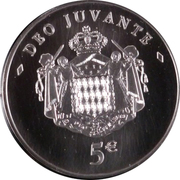 5 Euro - Albert II (Deo Juvante) – reverse