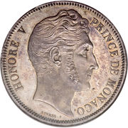 5 Francs - Honore V – obverse