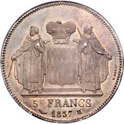 5 Francs - Honore V – reverse